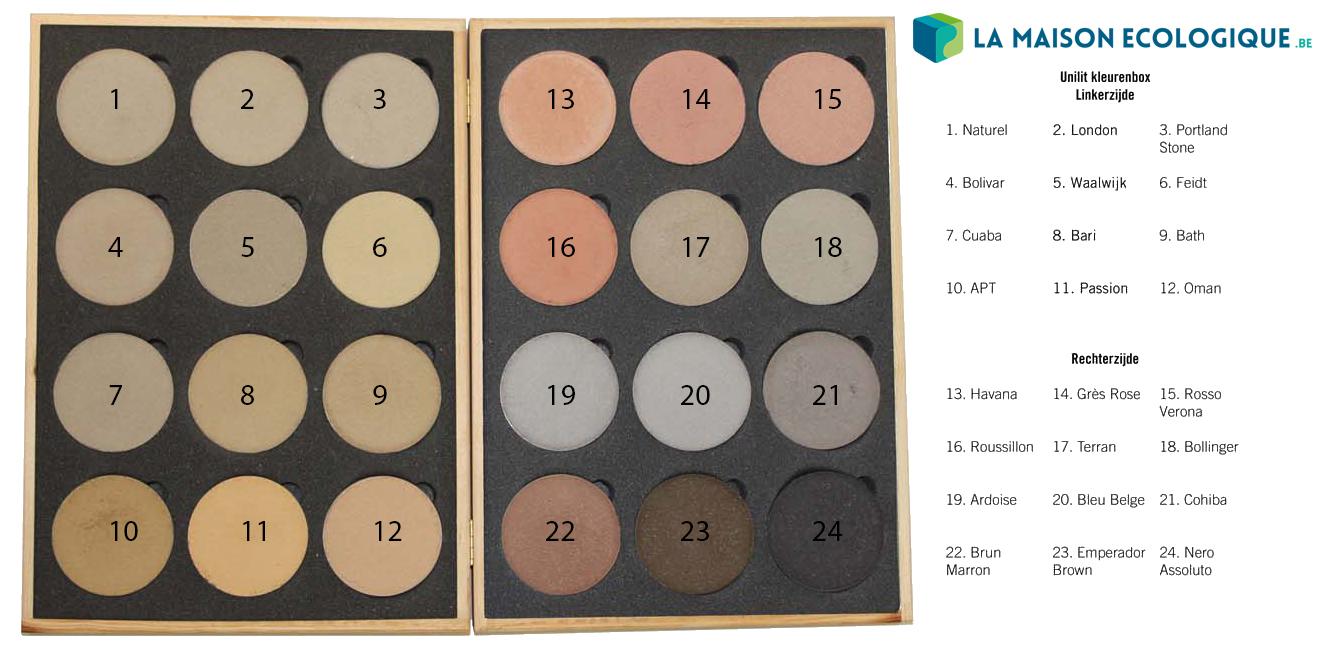 Unilit gamme de couleur chaux hydraulique