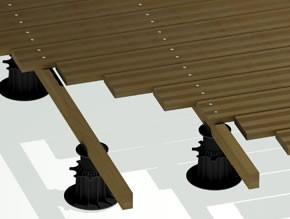 pose de terrasse en pin autoclave pour terrasse sur sol non stabilisé